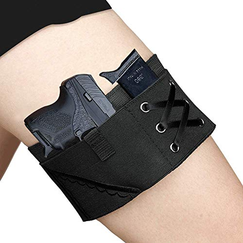 Thigh Tactical Sexy Woman Garter Case Black Holsters for Weapons PT-22. 22 Caliber TCP. 380 Revolver Bag