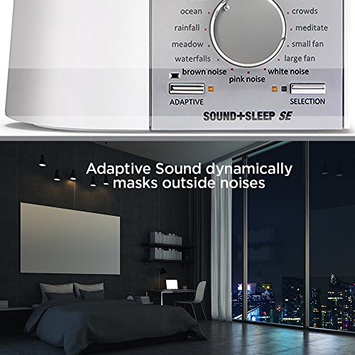 Adaptive Sound Technologies Sound+Sleep SE Special Edition High Fidelity Sleep Sound Machine with Real Non-Looping Nature Sounds, Fan Sounds, White, Pink & Brown Noise, & Adaptive Sound Technology