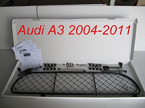 ERGOTECH Trennnetz Trenngitter Hundenetz Hundegitter für Audi A3 3 Türen BJ 2004-2011