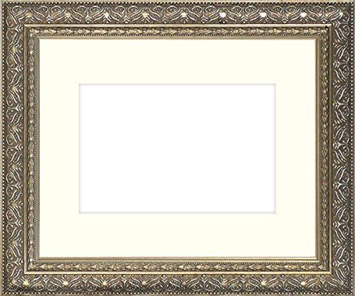 写真用額縁 420型/シルバー写真ワイド六つ切(305×203mm) ガラス マット付 マット色:黒