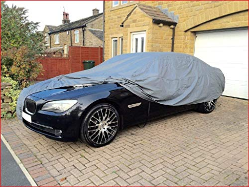 Shield Autocare CCHD7367 COTTON LINED FULL CAR COVER - SMALL - HEAVY DUTY WATER PROOF & DURABLE FULL CAR PROTECTOR COVER-MOISTURE SNOW FROST CORROSION DUST OUTDOOR UV PROTECTION