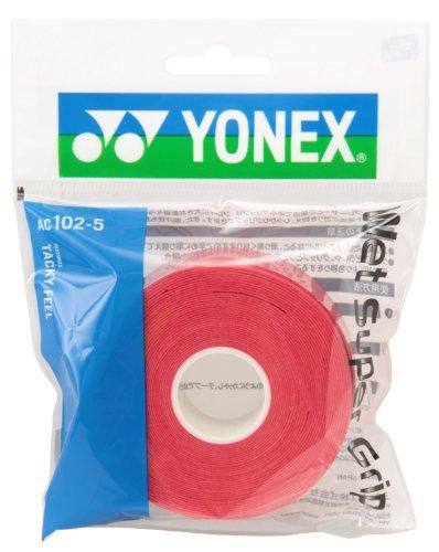 ヨネックス(YONEX) テニス バドミントン グリップテープ ウェットスーパーグリップ 詰め替え用 (5本入り) AC1025 ワインレッド