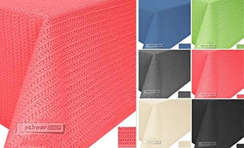 Schwar Textilien Gartentischdecke Tischdecke Weichschaummaterial rutschfest wetterfest 4 Farben (130x160cm eckig, Rot)