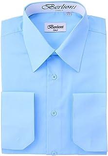 86f437eab49 Berlioni Men s Long Sleeve Solid Colors Convertible Cuffs Dress Shirts -  Many Colors