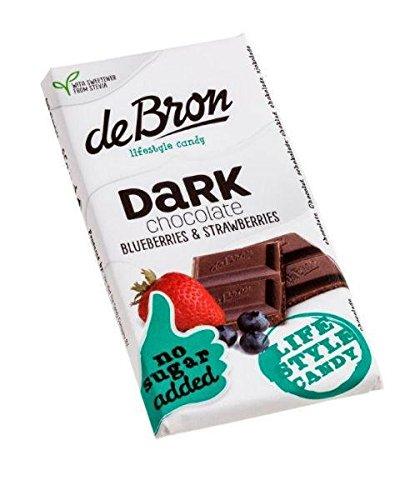 De Bron Stevia Zartbitter-Schokolade mit Erdbeeren & Blaubeeren 85 g
