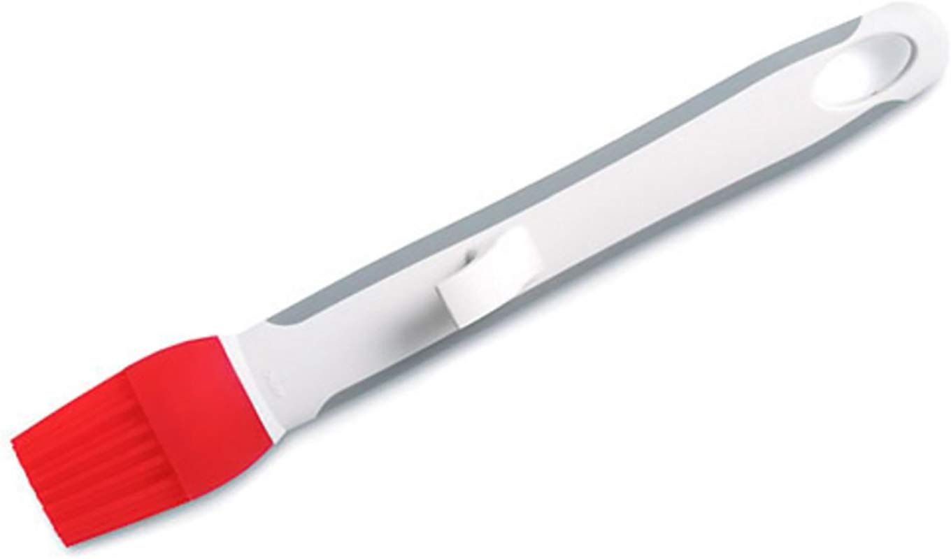 Pampered Chef Basting Silicone Brush In Cool Red And White