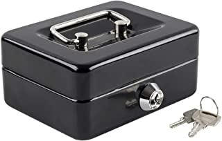 Kyodoled Mini Small Cash Box with Money Tray,Lock Box with Key,Small Safe for Kids 4.9