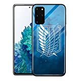 Manga Attack On Titian Glass Funda protectora para Samsung S10 S20 S21 FE Plus Note 20 Ultra (00051, Samsung S10 Plus)