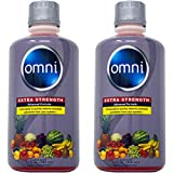 Omni Same-Day Detox Drink, Extra Strength Cleansing Quick Flush Potent Deep System Cleanser Fruit Punch Flavor (32 oz) 2 Pack (64 Oz Total)