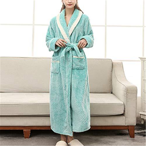 DUJUN Langarm Kimono Pyjama Bademantel Sexy Saunamantel Sommer,Morgenmantel Dünn aus Baumwolle Bademantel Nachtwäsche,Sexy XL Flanellnaht A-3 XL
