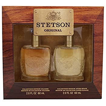 STETSON 2 PC GIFT SET  COLOGNE 2.0 oz + AFTERSHAVE 2.0 oz  by Coty for Men