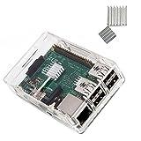 KuGi Raspberry Pi 3 Model B case PC Protective Case with 2x Heatsinks for Raspberry Pi 3 Model B+ ,Raspberry Pi 3 Model...