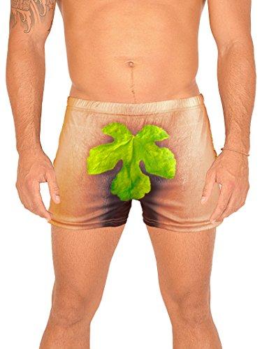 Unbekannt Lustiger Scherzartikel für Männer witzige Panty Motiv Adam - one Size - Boxershort Geschenk Humor Funartikel Partyartikel Badehose