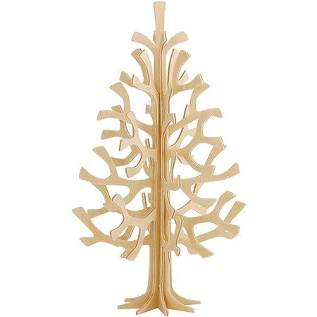 Lovi ロヴィ オーナメントカード ミニツリー クリスマスツリー Momi-no-ki 14cm NT ナチュラル 白樺 組み立て式 フィンランド製