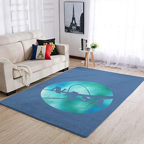 Ouniaodao Luxury NASA Area Rugs Traditional Soft Carpets -nasa for Bedroom Living Room white 50x80cm