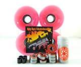 Longboard Cruiser Skateboard High Rebound Wheels + ABEC-7 Speed Bearings Pink