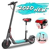GeekMe Patinete eléctrico con asiento de 8,5 pulgadas 25 km / h | Scooter eléctrico plegable con...