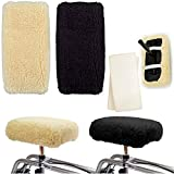 Knee Walker Cushion Covers 2 Pack for Knee Scooter for Injured Leg Universal Knee Scooter Pad Cover Faux Sheep Skin Knee Walker Seat Pads Covers for Rolling Scooter Includes 2 Extra Foam Inserts