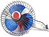 ERH INDIA 12 Volts DC Oscillating automaotive 6''Fan Directly Run Through Solar Panel or Any 12 Volts Battery Car Interior Fan (12 V)