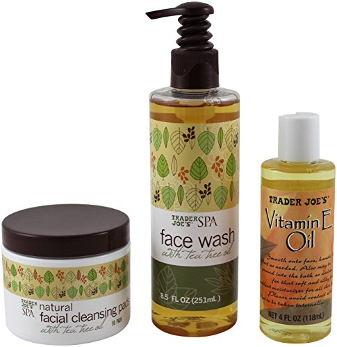 Trader joes Spa Face Wash with tea tree oil and Pure Vitamin E Oil
