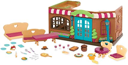 Li'l Woodzeez Animal Figurine Playset and Accessories - Pass-The-Pasta Restaurant - 45 Pieces