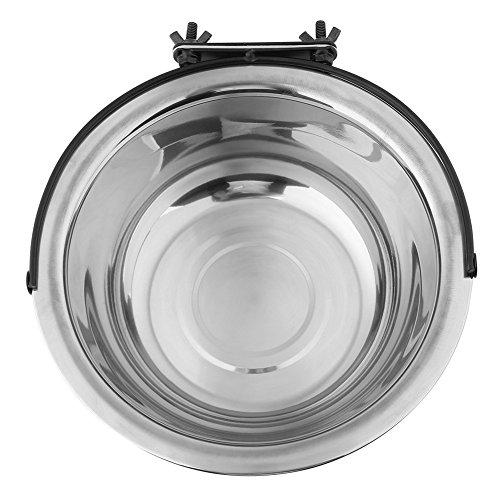 Ciotole per cani, 3 misure in acciaio inossidabile per alimenti per animali domestici da appendere Mangiatoia per acqua Ciotole fisse per cani con supporto per bulloni per cani di taglia media(XL)