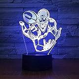 Veilleuse 3D Lampe De Chevet Enfant Fille Joueur De Ballon De Rugby De Football7 Couleurs Pour Les Cadeaux De Vacances Ou Les Décorations Pour La Maison-Bluetooth Control