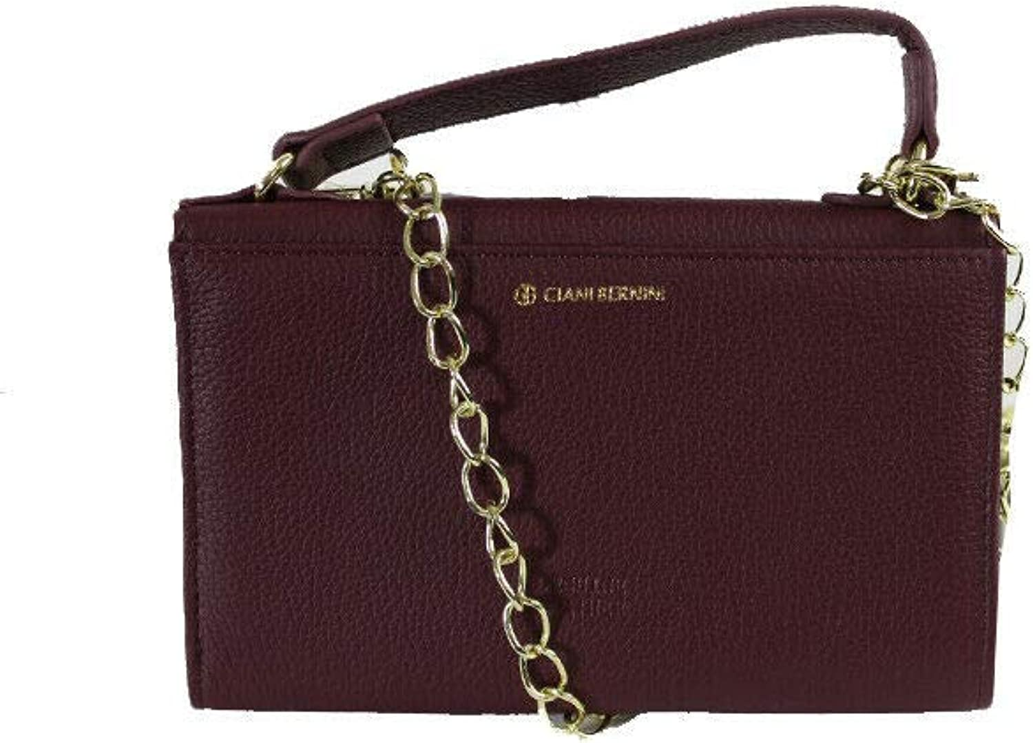 Giani Bernini Womens Softy Leather Smartphone Crossbody Handbag Red Small