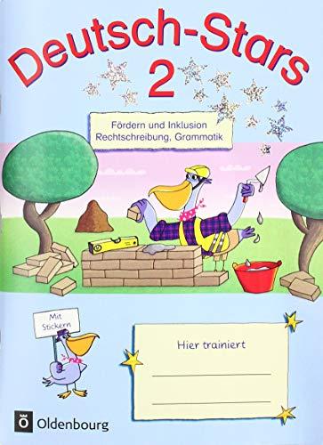 Deutsch-Stars - Allgemeine Ausgabe: 2. Schuljahr - Fördern und Inklusion: Übungsheft. Mit Lösungen