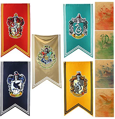 yuzhouzun cumpleaños Fiesta Regalos Slytherin Bandera primark Harry Potter Banderas Harry Potter