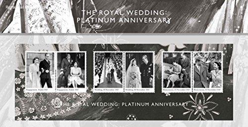 2017 PACCHETTO DI PRESENTAZIONE Francobolli Anniversario Platino Matrimonio Reale