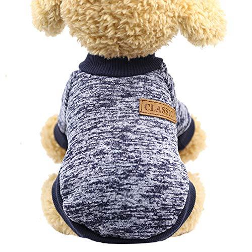 Hirolan Weihnachten und Neujahr Winter Warmer Winter Haustier Pullover, geeignet für Chihuahua, Teddy, Pomeranian