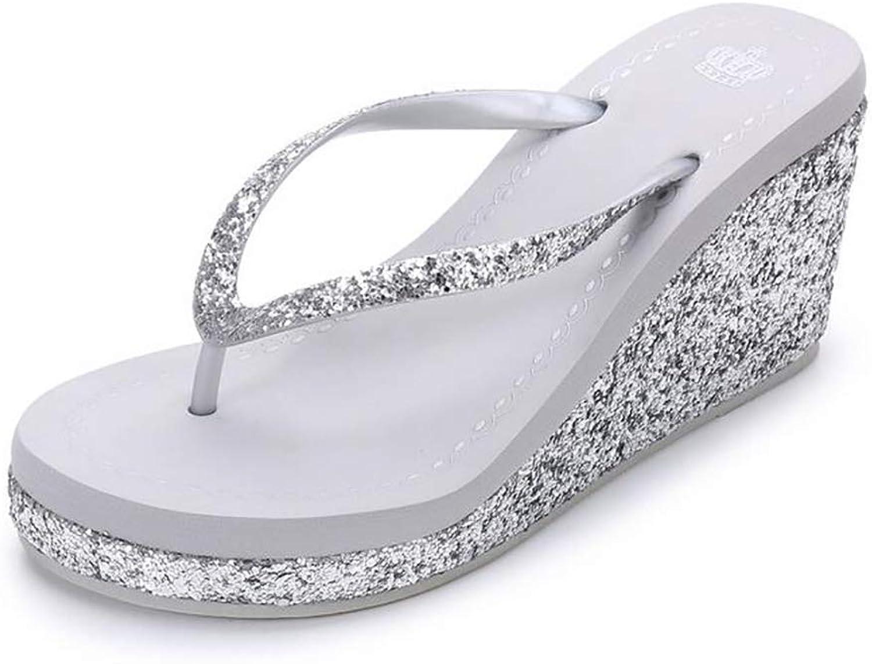 Summer Wedge Flip-Flops Sandals Women Beach Non-Slip Comfortable Platform High Heels shoes