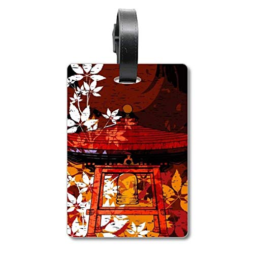 Japanischer Stil Blätter Pavillon Cruise Koffer Bag Tag Tourister Identifikationsetikett