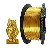 3D Printer Filament PLA 1.75 mm Silk Gold 1 KG (2.2 LBS) Spool