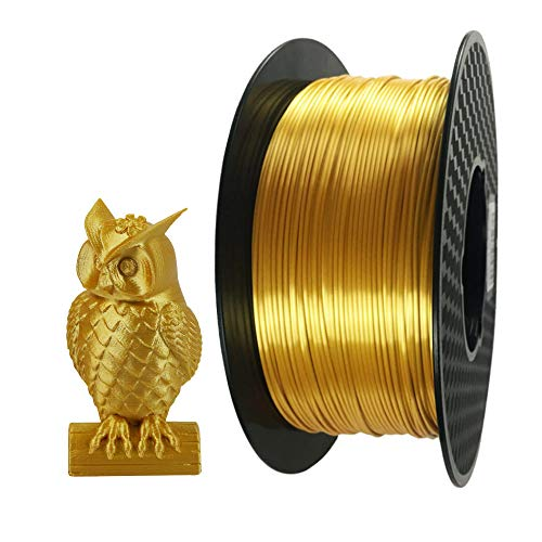 Silk Gold PLA Filament 1.75mm 3D Printer Filament 1 KG 2.2 LBS Spool 3D Printing Material CC3D Shine Silky Shiny Metallic Metal PLA Filament