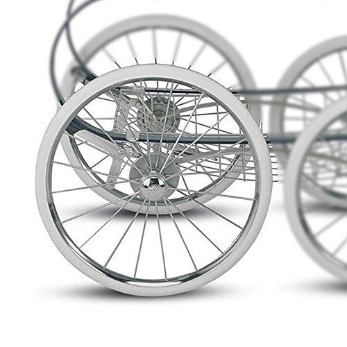 Inglesina Rad - Hinterrad für Classica Kinderwagen mit abnehmbaren Bremskranz; Original Inglesina Ersatzteil
