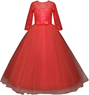 Xinvivion 女の子 子供ドレス プリンセスドレス お姫様 チュチュ メッシュ フォーマル 優雅 ピアノパフォーマンス 結婚式 発表会 入園式