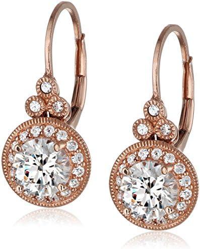 Platinum or Gold Plated Swarovski Zirconia Vintage Drop Earrings