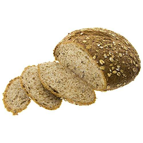 Biopanadería Pan Redondo de Trigo Integral con Cereales 450g Ecológico de Elaboración Artesanal (Sin Cortar)