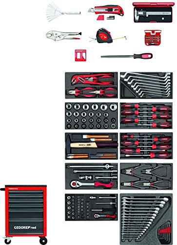 GEDORE red im Werkzeuge + Werkstattwagen MECHANIC 166-teilig-