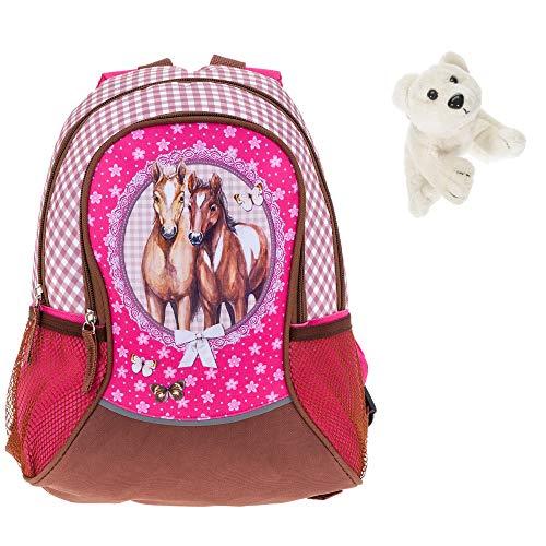 Kinderrucksack Mädchen Rucksack Kindergarten Fabrizio Horses + Eisbär (Sport 20550-2200)