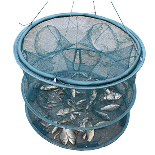 Visnet Vissen gereedschap vangen vis kooien vouwen visnetten kreeft netten garnalen kooien vis hand gooien netten kleine vis net rond Landing Nets