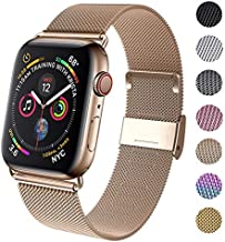 GBPOOT Compatible for Apple Watch Band 38mm 40mm 42mm 44mm, Wristband Loop Replacement Band for Iwatch Series 4,Series 3,Series 2,Series 1-Gold 38mm/40mm