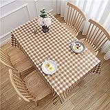 CYYyang Tischtuch mit Lotuseffekt - Tischwäsche in Leinenoptik PVC-Druck einfache Hotel-Tischdecke...