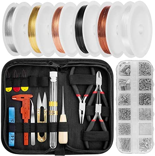 Jewelry Making Supplies Wire Wrapping Kit Pliers Cutters Beading Tools Jewelry Findings with product image