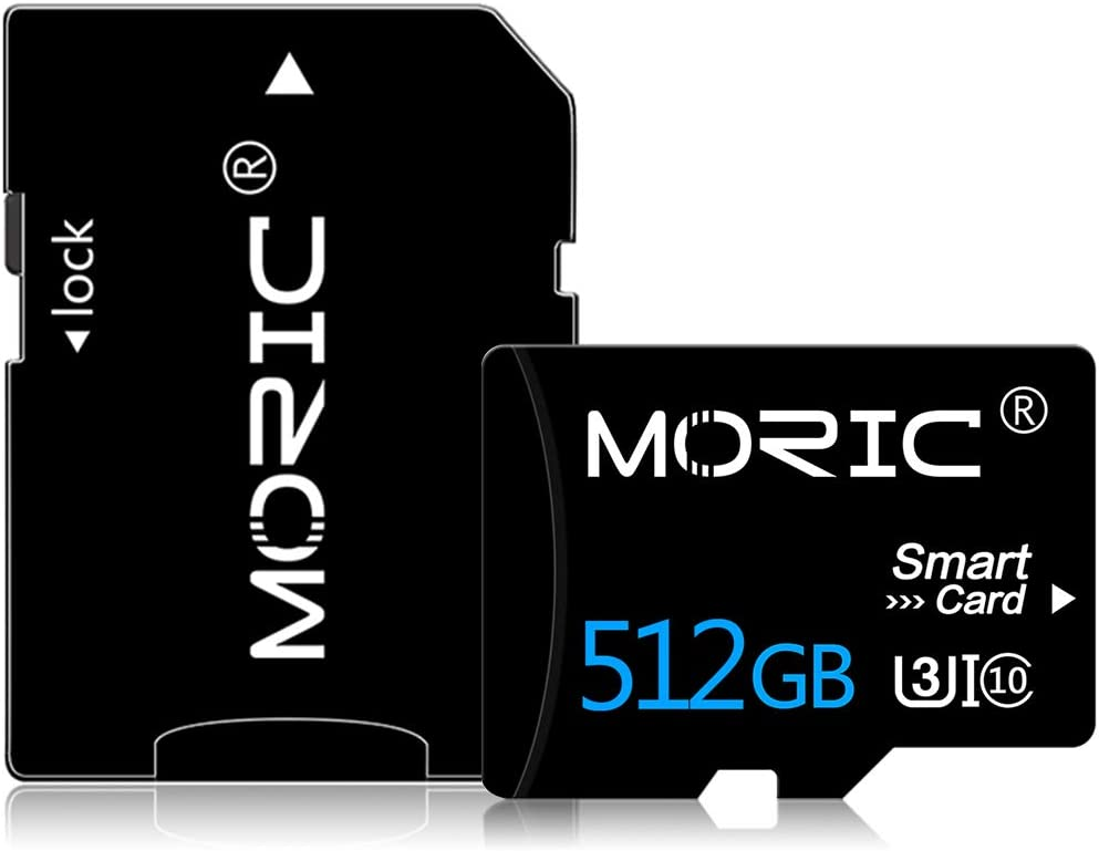 512GB Micro SD Card with Adapter SD Memory Cards for Camera (Class 10 High Speed), Memory Card for Phone Computer Game Console, Dash Cam, Camcorder, GPS, Surveillance, Drone