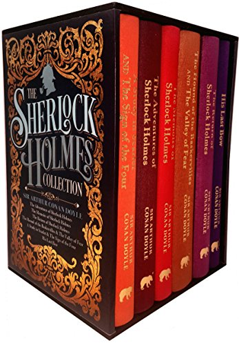 The Sherlock Holmes Collection 6 Books Box Set By Sir Arthur Conan Doyle (His Last Bow, The Memories of Sherlock Holmes, A Study in Scarlet and The Sign of The Four, The Adventures of Sherlock Holmes