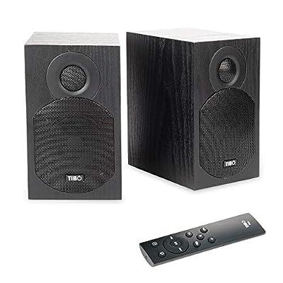 TIBO Plus 1.1 | Active HiFi Bookshelf Bluetooth Speakers - Designed and Developed in the UK,Black by Tibo
