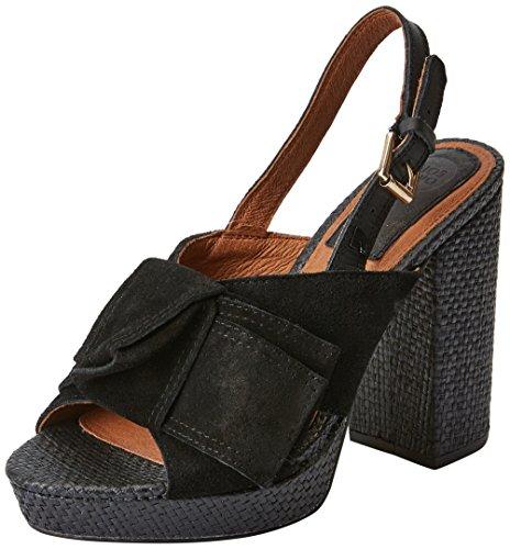Gioseppo 44086, Zapatos de tacón con Punta Abierta para Mujer, Negro (Black), 36 EU